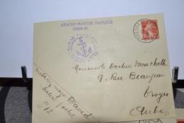 LETTRE AVEC CACHET TRESOR ET POSTE 17.6 18 .AVIATION MARIME FRANCAISE .TIMBRE N°135 CACHET MARINE FRANCAISE - Postmark Collection (Covers)