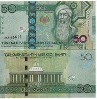 TURKMENISTAN    50  Manat.  P33   ( 2014 )   UNC - Turkmenistan