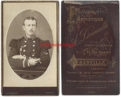 CDV -militaire Du 2e Régiment-manches Brodées-trompette? Photo Demeulle à Granville (Maanche) - Guerre, Militaire