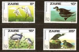 Zaire 1985 OCBn°  1282-1285  *** MNH Cote 13 Euro   Oiseaux Vogels Birds - Zaïre
