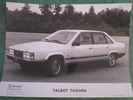 Photo Constructeur TALBOT TAGORA .  Modèle 1980 - Coches