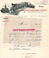 34- MONTPELLIER-PARIS- RARE BELLE LETTRE NORWICH UNION-ASSURANCES VIE-3 AVENUE OPERA-B. BALP-1 PLACE COMEDIE-1910 - Bank & Insurance