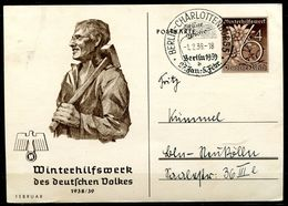 """German Empires 1938/39 GS WHW Mi.Nr.P274/05""""Februar,Arbeiter Mit Hammer""""mit SST""""Berlin""""1 GS Used - Deutschland"""