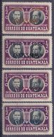 GUATEMALA :1953/58: Y.365,382-85 Dentelled/neufs/MNH : ## Homage To The Authors Of The National Hymn / Centenary Of ... - Guatemala