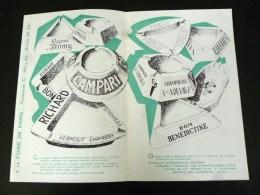 CENDRIER PLASVERRE § LENNE GUERVILLE VERMOUT COGNAC FROMY COMBIER CHAMPAGNE VEUVE DEVAUX BENEDICTINE ZIG-ZAG PUBLIC - Ashtrays