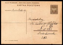 POLAND 1934 PC 20 GR EAGLE PC III-1933 CP 51 SLOGAN F ADRESSED LODZ CARE FOR A CHILD - THERE WILL BE LESS CRIMINALS - Ganzsachen