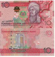 TURKMENISTAN    10  Manat.  P31   ( 2012 )   UNC - Turkmenistan