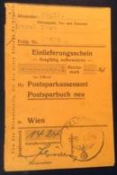FELDPOST 536 / 1944 Einlieferungsschein Für Postsparbuch 1Rm (Österreich Geld  Bank Post Brief Postanweisung - 1918-1945 1. Republik