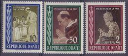 Rép. D'HAÏTI :1959: Y.410-12&PA158-60 Dentelés/neufs/MNH : ## La Mort Du Pape PIE XII ## : RELIGION,CATHOLIC CHURCH, - Haïti