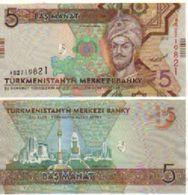 TURKMENISTAN    5  Manat.  P30   ( 2012 )   UNC - Turkmenistan