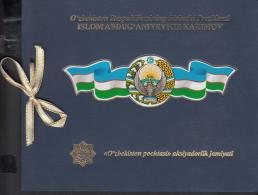 Uz 1196-1204 Uzbekistan Usbekistan 2017  First Aniv Of Death President Karimov Booklet - Usbekistan