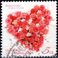 THAILAND 2011 Valetine's Day. Symbols Of Love - 5b Heart Of Roses FU - Thaïlande