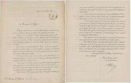 Paris 1863Société De Secours Des Blessés Militaires Croix-rouge Filgrane Présentation De L'association - Documents Historiques