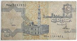 Billete Egipto. 25 Piastras. - Egipto