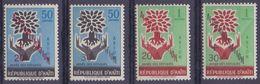 Rép. D'HAÏTI :1960: Y.PA199-202 Dentelés/neufs/MNH : ## Campagne Pour L'ALPHABÉTISATION ## : TREE,ARBRE,HANDS,MAINS, - Haïti
