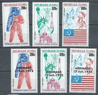 Mali Poste Aérienne YT N°245/247 Et 258/260 Coopération Spatiale USA-URSS Et Surchargé Arrimage Neuf ** - Mali (1959-...)
