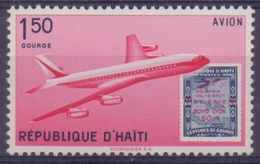 Rép. D'HAÏTI :1960: Y.PA217 Dentelé/neuf/MNH:## Semaine De L'Aviation, à Port-au-Prince ##:AVION,AIRPLANE,STAMP On STAMP - Haïti