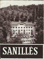 Feuillet De 3 Pages , Publicitaire Pour L' Hôtel Balnéaire De SANILLES , Pyrénées Catalanes à 25 Km De Bourg-Madame - Espagne