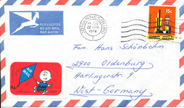South Africa Air Mail Cover Sent To Germany Johannesburg 22-7-1974 Single Franked - South Africa (1961-...)
