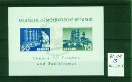 DDR--Block Nr. 18 Mit Ersttagsstempel - [6] Oost-Duitsland