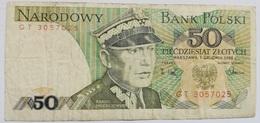 Billete Polonia. 50 Zlotich. 1988. - Polonia