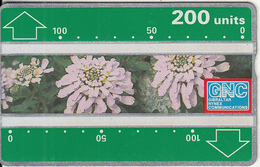 GIBRALTAR - Candytuft(200 Units), CN : 230A, Tirage 10000, Used - Gibraltar