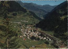 Airolo TI - Panorama - Bahnstempel Giornico - Photo: Engelberger - TI Tessin