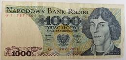 Billete Polonia. 1000 Zlotich. 1982. - Polonia