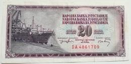 Billete Yugoslavia. 20 Dinares. 1974. - Yugoslavia