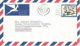 South Africa Air Mail Cover Sent To Switzerland Springs 25-10-1972 Single Franked - Airmail