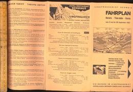 Dépliant Touristique : JUNGFRAU Schweiz Bahn FAHRPLAN Horaire Tarif 1957 Time Table  Interlaken Berner Oberland - Dépliants Turistici