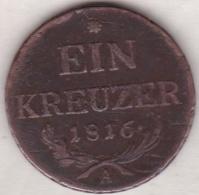 Austria. 1 Kreuzer 1816 A (Vienne) Franz II. KM# 2113 - Austria