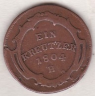 Austria. 1 Kreuzer 1804 H (Guntzbourg) Franz II . KM# 27 - Autriche