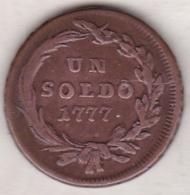 Lombardia. 1 Soldo 1777 S Milan.  Maria Theresia - Monedas Transitorias