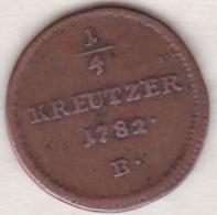 Austria. ¼ Kreuzer 1782 B (Kremnitz) Joseph II . KM# 2051.1 - Autriche