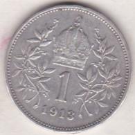 Austria. 1 Corona 1913. Franz Joseph I. Argent .KM# 2820 - Austria