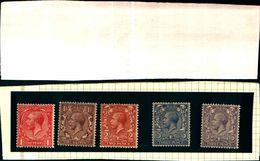 85903) Gran Bretagna-1912 GiorgioV Di Profilo-n140/141/142/144/164-MNH** - 1902-1951 (Re)