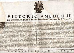 1694 VITTORIO AMEDEO II - Decreti & Leggi
