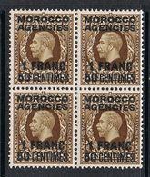 MAROS ANGLAIS N°30 N** EN BLOC DE 4 - Morocco Agencies / Tangier (...-1958)