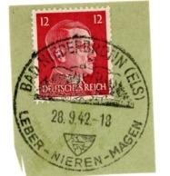 Enveloppe Cachet Allemand 1942 Bad Niederbronn Niederbronn-les-Bains Annexion Foie Rein Estomac - Stamps