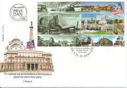 SRB 2014-569-70 Liberation Of Belgrade, SERBIA, FDC - Serbien