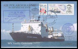 "POLAROGRAMMME 2011 Used RUSSIA SHIP ""GOLOVNIN"" ANTARCTIC Expedition ARGENTINA STATION BASE SOMOV Explorer AMBASSY Mailed - Antarctic Expeditions"
