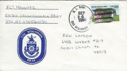 Postmark  - Cancel- USS WISCONSIN. U.S. Navy.  H-1279 - United States