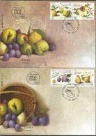SRB 2015-608-11 FRUTS, SERBIA, 2FDC - Obst & Früchte