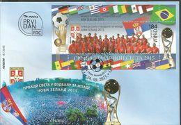SRB 2015-622 WORLD CHAMPIONSHIPIN FOOTBALL U-20, SERBIA, FDC - Coupe Du Monde
