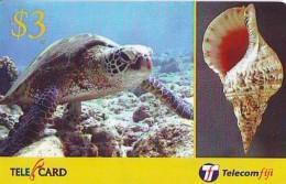 Télécarte FIJI  (2319) TORTUE *  TURTLE * SHELL * Phonecard - SCHILDKRÖTE * TELEFONKARTE - Turtles
