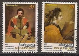España U 3658/59 (o) Pintura. Velazquez. 1999 - 1991-00 Oblitérés