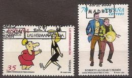 España U 3712/13 (o) Comics. 2000 - 1991-00 Oblitérés