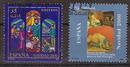 España U 3769/70 (o) Navidad. 2000 - 1931-Today: 2nd Rep - ... Juan Carlos I