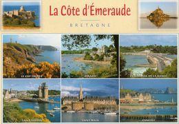 CPM - F - LA COTE D'EMERAUDE - MULTIVUES - CAP FREHEL - SAINT MALO - DINARD - CANCALE - MONT ST MICHEL - LA RANCE - - France